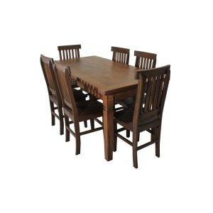 Conjunto Chipre 1,60m com 6 cadeiras - Imbuia