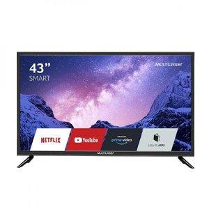 Smart Tv Led 43 Polegadas Full HD Tv Wifi Integrado Função DNR Multilaser