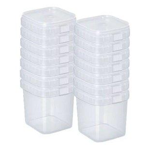 Potes Quadrados Bolo No Pote Lacre Plástico 500ml -50 Unid.