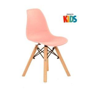 Cadeira infantil Eames Eiffel Junior - Kids - Rosa coral