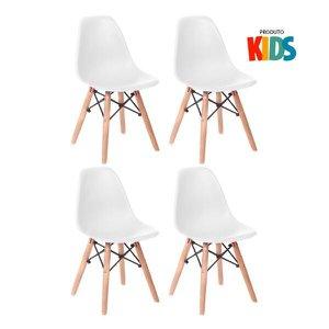 KIT - 4 x cadeiras infantil Eames Eiffel Junior - Kids - Branco