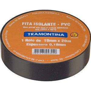 Fita Isolante Anti-chamas Preta 10m 19mm Tramont 57541010