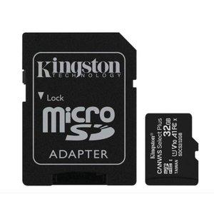 Cartão de Memória 32GB Kingston, Micro SD Classe 10, Adaptador SD Canvas Select Plus SDCS2
