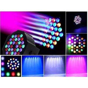 Kit 2 Refletor Canhão Luzes Dj 36 Leds Eventos Salões Dmx512 - RGB multicolor - 110V/220V (Bivolt)