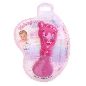 Mordedor Bebê menina- Vila Toy -Pezinho Rosa Pink