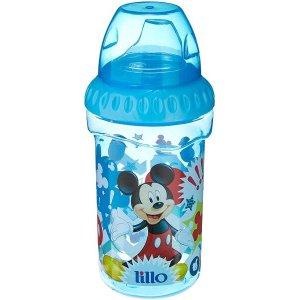 Copo Mickey Com bico De Silicone Disney, Lillo, Azul, 330 ml