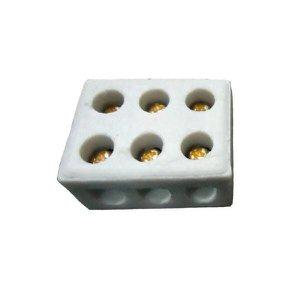 Conector Tripolar 25A de Porcelana 10mm - Foxlux
