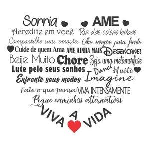 Adesivo Decorativo De Parede Frase Sorria Viva Ame A Vida