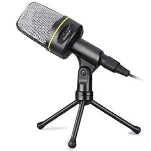 Microfone Condensador Com Tripé Xtrad Para Studio Youtuber