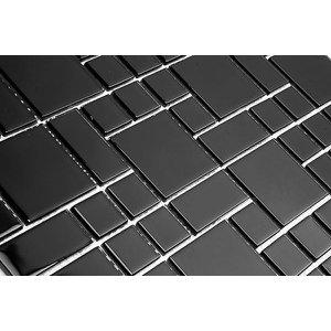 Pastilha de Vidro Modulare - 3 Cores - Preto