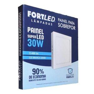 PAINEL LED SOBREPOR 30W QUADRADO - FORTLED