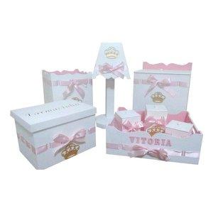 Kit Higiene De Bebê Em Mdf Decorado Princesa Menina