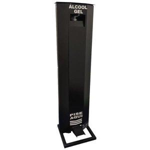 Totem Display para Álcool Gel com Dispenser Preto