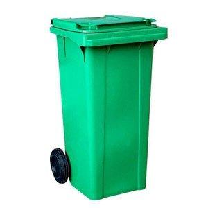 Lixeira Carro Coletor Lixão 120 L Contentor Lixo - Verde