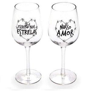 Conjunto de Taças de Vinho 2 Peças Amor Infinito 770ml Ludi