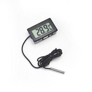Termômetro Dig. Ambiente Aquário Freezer Chocadeira - Preto