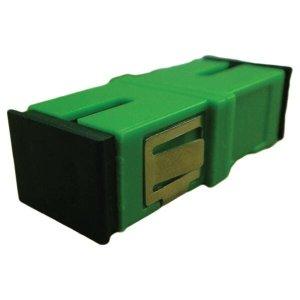 Adaptador Acoplador Optico Simplex SC/SC/ APC/APC sem ABRA Lateral Verde