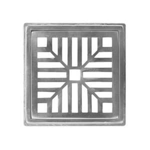 Ralo Grelha Pluvial com Suporte 15X15 Alumínio Polido