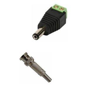 Kit 32 Conector Bnc Com Mola + 16 P4 Macho Com Borne