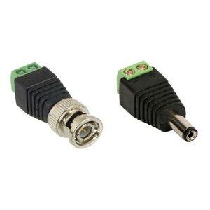 Kit 20 Conector Bnc Com Borne + 06 P4 Macho Com Borne