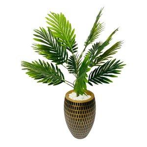 Planta Artificial Coqueiro Com Lindo Vaso Trabalhado!