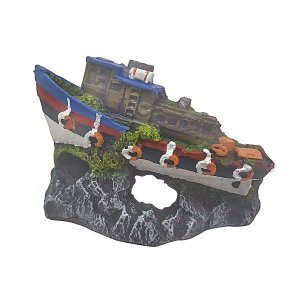 Enfeite para Aquários Barco Rebocador - Fragata Ornamentos