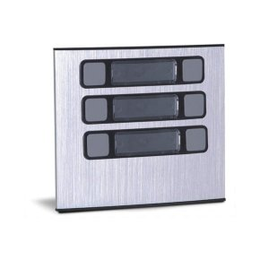 Módulo com 6 botões para porteiro eletrônico coletivo