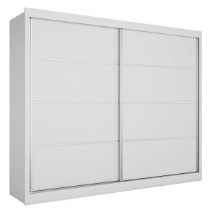 Guarda Roupa de Solteiro 2 Portas Verona Plus-Made Marcs - Branco acetinado