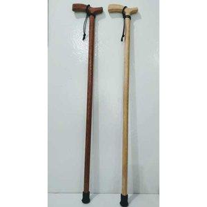 Bastão/Bengala de madeira com cordão OrtoProx - Mogno