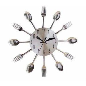 Relógio Talher Cozinha Parede