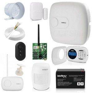 Central Alarme Amt 4010 Smart Intelbras + Acessorios Kit 8