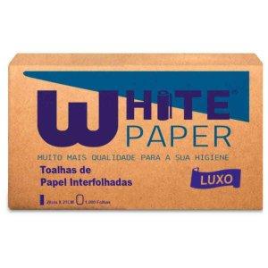 Papel Toalha White Paper 2 Dobras 23X21Cm Com 1000 Luxo