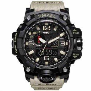 Relógio smael Sportivo Militar Smael - Khaki - Preto