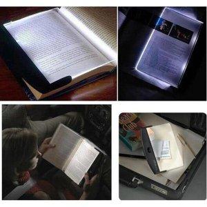 Luminaria led para leitura para livros e textos light panel luz de led noturna de mao portatil
