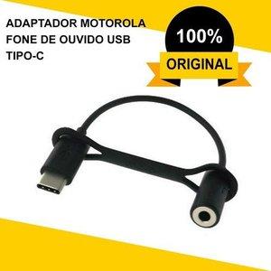 Adaptador Usb Tipo-c Para Fone De Ouvido P2 3.5mm Motorola