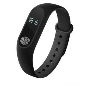 Relógio Pulseira Inteligente Monitor Cardíaco E Pressão M2 - Preto