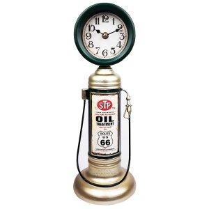 Relógio Em Metal Bomba de Gasolina Vintage Miniatura 38 cm