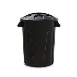 Cesto para Lixo 100 litros com Tampa - Preto
