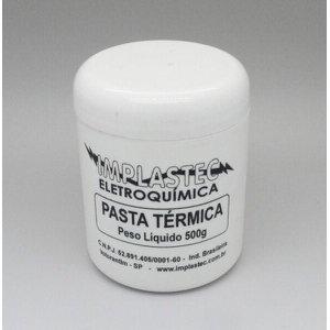 Pasta Térmica de Silicone Branca Implastec - Pote 500g