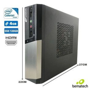 Mini Computador para Pdv Bematech Rc8400 4gb SSD 120gb | Windows 10