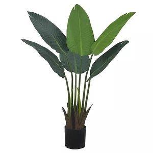 Bananeira de Jardim Artificial Verde 78cm c/ pote