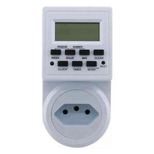 Timer Digital E Temporizador Tomada Bivolt 10A - 9 Programas