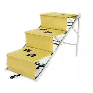 Escada Para Cães Cachorro Dobravel Rampa Tubline Pet Bege