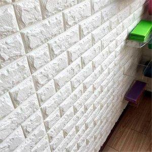 Revestimento 3D De Espuma Modelo Tijolinho Caixa 5 Peças