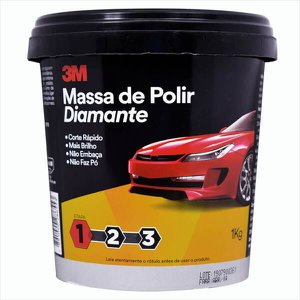 MASSA DE POLIR DIAMANTE 1KG 3M