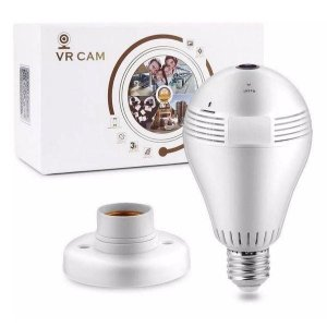 Lampada Camera Monitoração Celular 3D Wifi V380 Cam