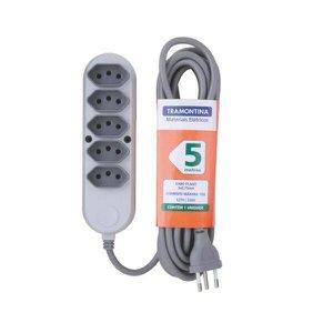 Extensão Elétrica Régua 5 Tomadas 2P+T Bivolt 5M Tramontina