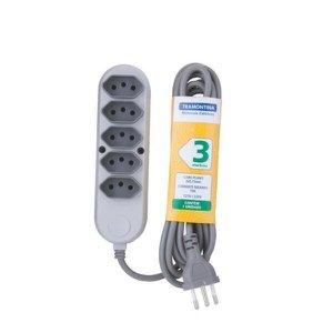 Extensão Elétrica Régua 5 Tomadas 2P+T Bivolt 3M Tramontina