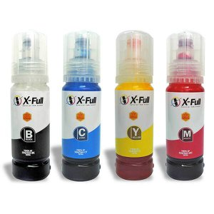 Kit Colorido Tinta Corante 4x70ml Compatível para impressoras L3108 L3150 L3158 série 504/544 X-Full