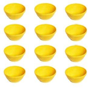 Conjunto De Sopeira Cheff Vemplast P 250Ml 12 Peças Amarelo